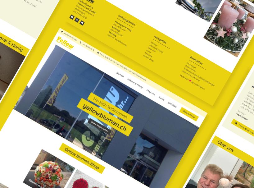 Cover Referenz Webseite Blumen und Honig Lade
